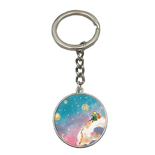 PINGJING Schlüsselanhänger The Little Prince aus Metall Typ D