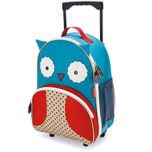 Skip Hop Zoo Luggage, trolley da viaggio per bambini, con targhetta con nome, multicolore, gufo Otis