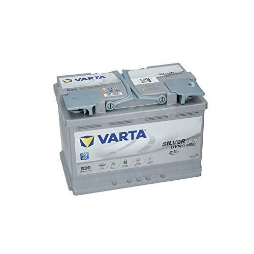 Varta E39 Silver Dynamic, 70Ah 12V AGM Autobatterie für den Škoda Yeti mit 1.4 TSI Benzin Triebwerk und Start Stopp System