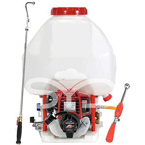 Mochila para sulfatar 25l. con motor Honda GX35. Bomba de 2 pistones de acero con cabeza cerámica.