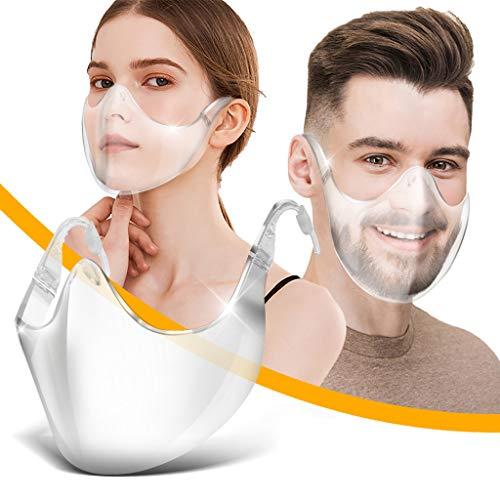 PIASNHAOAH4 1 Piezas 𝐌𝐚𝐬𝐜𝐚𝐫𝐢𝐥𝐥𝐚𝐬 De Montar Transparente Reutilizable PláStico para Adultos con ProteccióN Facial Duradera