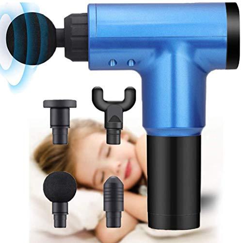 XHTANG 6 Stufen Massagepistole, Schnurloses Handmassagegerät für tiefes Gewebe, Massage Gun für Nacken Schulter Rücken tiefe Gewebemuskulatur, mit 4 Massageköpfen