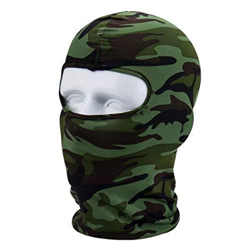 MXECO Camouflage Winter Fleece Warm Vollgesichtsschutz Anti-Staub Winddicht Skimaske Snowboardhaube Anti-Staub Fahrrad Sturmhauben Schal (Tarnung (L))