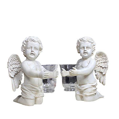 Skulpturen Europäischen Leuchter Engel Vase Aquarium Ornamente Wohnzimmer Schlafzimmer Kreative Einrichtungsgegenstände Harz Handwerk Engel Vase Engel Ornamente