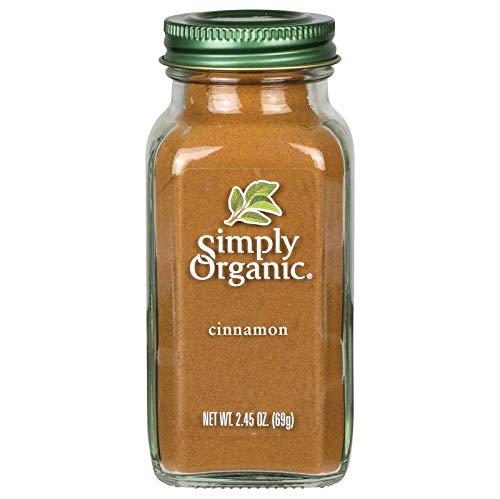 Simply Organic Ground Cinnamon, Certified Organic | 2.45 oz | Pack of 3 | Cinnamomum loureirii Nees