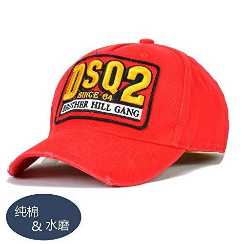 sdssup 9 Primavera y Verano Nueva versión Gorra de béisbol para Hombre D106 Rojo Ajustable