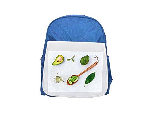 Fotomax ALTERNATIVA, aromaterapia, aguacate impreso Kid 's azul mochila, para mochilas, cute small Mochilas, cute negro mochila, Cool mochila negra, moda mochilas, Gran moda mochilas, negro Fashio