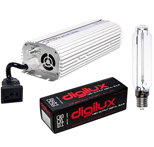 Hydrofarm Quantum 600W Digital Dimmable Ballast + DIGILUX 600W HPS Hydroponics Grow Light