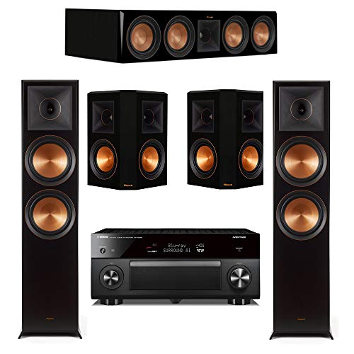 Best Bargain Klipsch 5.0 Piano Black System with 2 RP-8060FA, 1 RP-504C, 2 RP-502S, 1 RXA3080 Receiv...