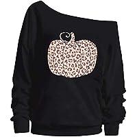 Kneyatta Women Leopard Pumpkin Printed Sweatershirt