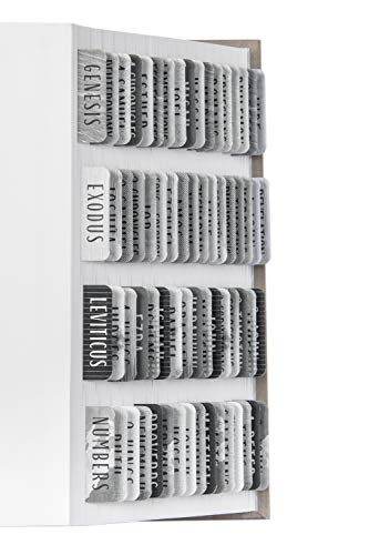 DiverseBee Laminated Bible Tabs (Large Print, Easy to Read), Personalized Bible Journaling Tabs, 66 Book Tabs and 14 Blank Tabs - Noble Theme