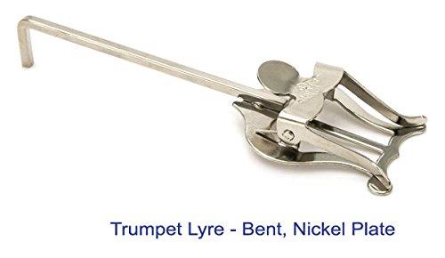 Brass-Fix UK gebogen Nickel Lyra Musik Halterung für Kornett, Trompete, Flügelhorn