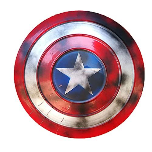 KDDEON Capitán América Escudo Full Metal 1 a 1 Versión de película Vengadores Accesorios de Mano Modelo Decoración Serie Leyenda Réplicas Miracle Props Modelo Decoración D, 47CM