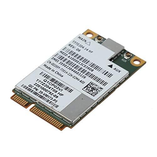 Ontracker - Módulo de tarjeta adaptador inalámbrico PCI-E para De-ll Latitude E6420 E5420 0269Y 00269Y DW5630 5630 para Gobi 3000 3G EVDO / WCDMA WAN G77MT