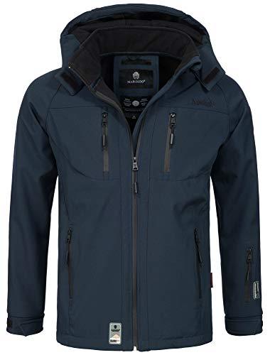 Marikoo Herren Softshell Funktions Outdoor Ski Regen Winter Jacke Sport B630 [B630-Noa-Navy-Gr.XXL]