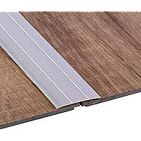 Gedotec Perfil de transición laminado autoadhesivo - vinilo - alfombra UVM. El | Perfil piso plano | Alu plata anodizada | Longitud 100 cm | Ancho 37 mm | riel inferior de aluminio - 1 pieza