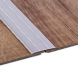 Gedotec Aluminium Übergangsprofil selbstklebend Übergangsschiene Alu flach | Boden-Leiste mit Breite 37 mm | Ausgleichsprofil Silber eloxiert | Abdeckleiste 100 cm | 1 Stück - Bodenprofil Schiene