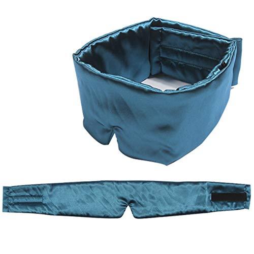QAZXCV Schlafmaske - Maulbeer-Seide-Augenmaske Schlafmaske mit Blindfolder für den gesamten Blackout für den ganzen Nachtschlaf, Anti Altering.Travel & Nap,A