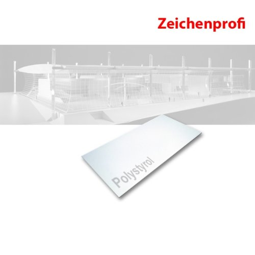 Polystyrolplatte weiß, 495 x 1000 x 0,5 mm