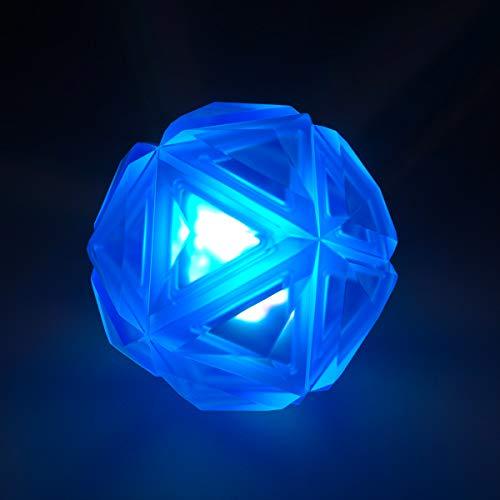 PEDOMUS Hundespielzeug Ball mit LED Licht und Squeaker, Spielzeug für Hunde, Hundeball Hundebälle, Spielball für Hunde, leuchtet in wechselnden Farben, aus thermoplastischem Gummi
