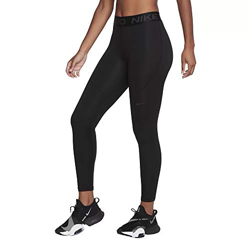 NIKE Pro Therma Leggings, Negro/Gris Ahumado, XX-Large para Mujer
