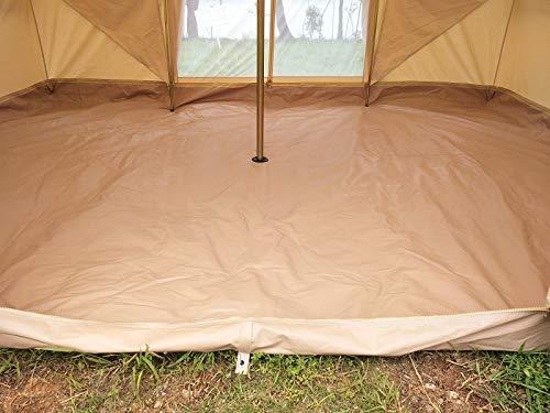 Latourreg Cotton Canvas 5X4M Touareg Bell Tent Square Glamping Safari Tent with Double Door. 3