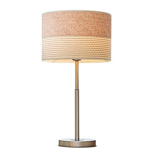 LEGELY Rayures Marron Beige Lampe de Table Nordique de décoration de Mariage, E27, Fer à Repasser