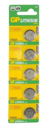 GP Batteries cr2025-c5 Pile bouton au lithium (par bande de 5)