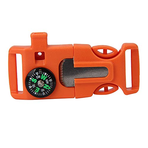 SSBODY Christmas Decorations Sale Clearance,Compass Flint Scraper Fire Starter Whistle Buckle Plastic Parachute Bracelet Outdoor Camping Emergency Survival Travel Kits Backpack Bag Parts Accessories