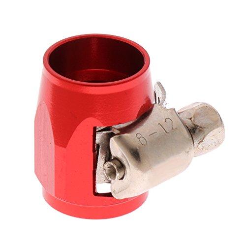 MagiDeal Pince de Tuyau de Carburant/Huile/Eau Clip en Aluminium Accessoire Voiture - Rouge