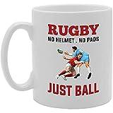 Rugby Pas de Casque Pas de Tampons Juste une Boule Nouveauté Cadeau Thé Café Tasse en Céramique