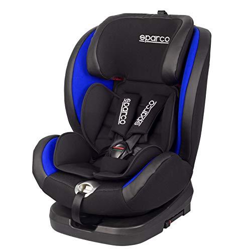 Sparco BL Silla de Coche Giratorio SK600I (Isofix) Negro/Azul 0 hasta 36 kg, 0 hasta 12 años (E8-R44)