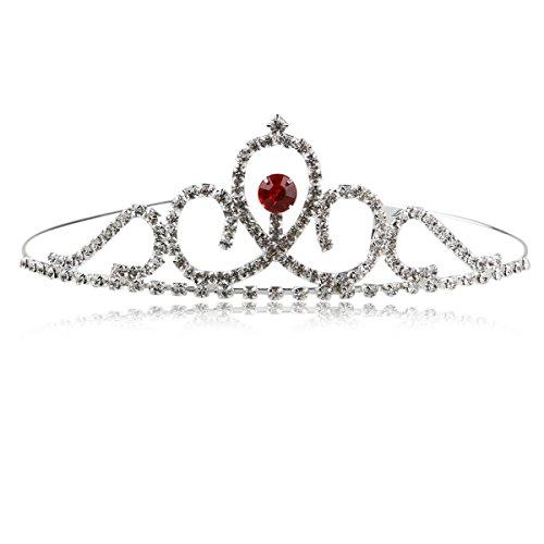 Tiara de casamento strass cristal nupcial flor menina tiara concurso corvo acessório de cabelo