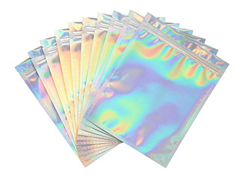 Bagnosis XX-Small Holographic Bags, Packaging Bags. 120 Resealable Bags. 1.5x1.9 Inches Mylar Bags Smell Proof Foil Pouch Bags, Dispensary Packaging Bag, Sample bags