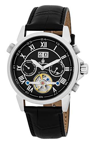 Burgmeister Armbanduhr für Herren mit Analog Anzeige, Automatik-Uhr und Lederarmband - wasserdichte Herrenuhr mit zeitlosem, schickem Design - Klassische Uhr für Männer - BM118-122 California