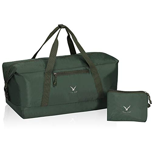 Hynes Eagle 35L Travel Duffel Bag Foldable Sports Duffels Gym Bag Outdoor Weekender Bag for Men and Women Army Green