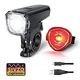 Fahrradlicht Set, OMERIL Fahrrad Licht StVZO Zugelassen Fahrradbeleuchtung LED Wasserdicht USB...