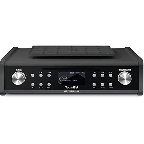 TechniSat DIGITRADIO 20 CD – Modernes & kompaktes DAB+ Küchen- & Badezimmerradio (Empfangsstarkes UKW Unterbauradio mit CD Player & Uhr)