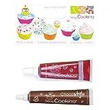 Colorante alimentario líquido tubo 20 g rojo + Tubo de chocolate para decorar