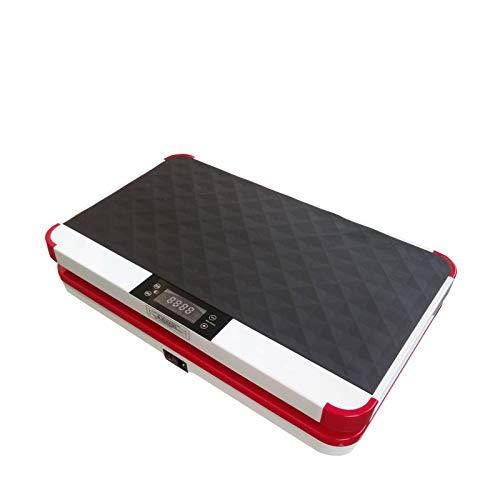 VibroSlim Unisex– Erwachsene VSU010 Vibrationsplatte Fitness, Rot, L 61.5cm x B 37.5cm x H 14.2cm