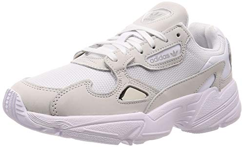 adidas Womens Falcon Sneaker, Cloud White/Cloud White/Crystal White, 36 EU