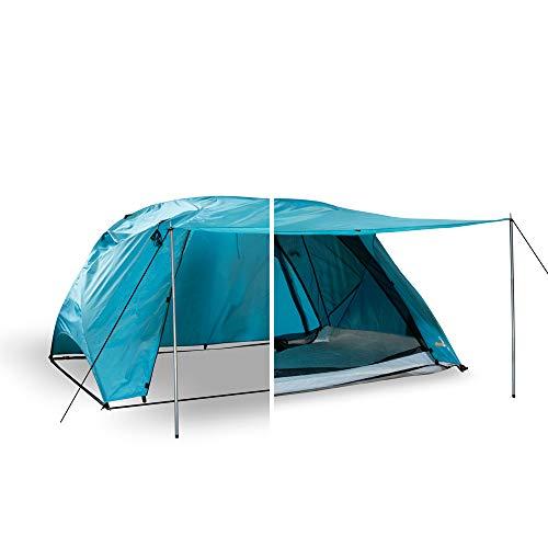 outdoorer Svalin - multifunktionelles Zelt mit Strandmuschel-, Moskitoschutz- & Schnellaufbau-Funktion, wasserdichtes Raumwunder