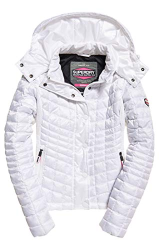 Superdry Damen Nova Box Quilt Fuji Jacket Sportjacke, Weiß (Optic Bianco 26c), Medium (Herstellergröße: 12.0)