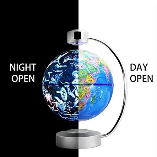 Luces de noche LED de levitación magnética con globo y constelación 2 modo de visualización 8 pulgadas mapa mundial de la lámpara de decoración del hogar para el aprendizaje oficina escritorio Decor