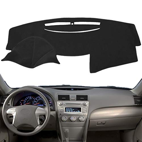 Dashboard Cover Dash Cover Mat Pad Custom Fit for Toyota Camry 2007 2008 2009 2010 2011 (Black) Y27