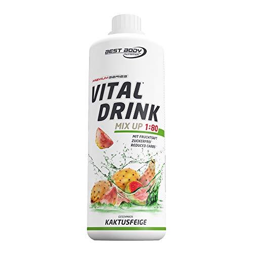Best Body Nutrition Vital Drink Kaktusfeige, Getränkekonzentrat, 1000 ml Flasche