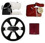 Berkel – Home Line 250 negro + funda de rebanadora roja + disco quitahojas + accesorio afilador para Home Line
