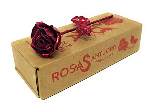 Rosa Forjada Edición Sant Jordi Roja - Forjada a Mano