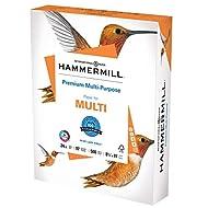 Hammermill Printer Paper, Premium Multipurpose Paper 24 lb, 8.5 x 11 - 1 Ream (500 Sheets) - 92 Bright, Made in the USA, 105810