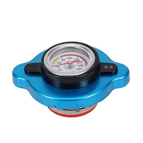 Tbest Auto Thermostatanzeige Kühlerdeckel, Universal Thermo Thermostat Wassertankdeckeldeckel Druck Temperaturanzeige mit mittlerem Kopf